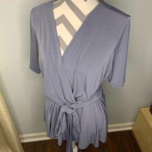 Short sleeve wrap style top